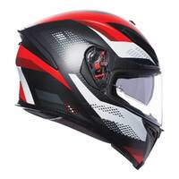 AGV K-5 S MARBLE MATT BLK//WHITE/RED