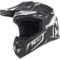 NITRO MX 620PODIUM JNR SATIN BLACK/WHITE