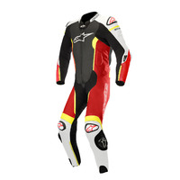 ALPINESTARS MISSILE TECH-AIR® COMPATIBLE SUIT - BLACK WHITE FLURO RED YELLOW