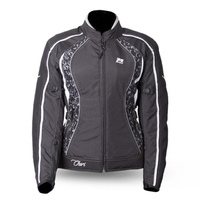 MOTODRY CHERI LADY JACKET BLACK/WHITE