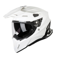 AIROH COMMANDER WHITE GLOSS ADVENTURE HELMET