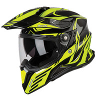 AIROH COMMANDER CARBON YELLOW GLOSS ADVENTURE HELMET