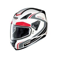 NOLAN N605 PRACTICE HELMET 19 - WHITE/RED/BLACK