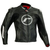 RICONDI GP EVO LEATHER JACKET BLACK/GUNMETAL