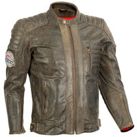 RICONDI THE GWYDIR MENS DISTRESSED LEATHER JACKET
