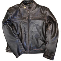 KIDS BRUXNER PERFORATED LEATHER JACKET
