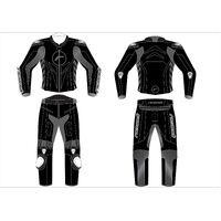 RICONDI GP EVO 2PC SUIT BLACK/GUN KIT