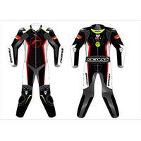 RICONDI RACING SERIES SUIT TALL - BLACK/WHITE/NEON RED