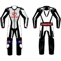 RICONDI RACING SERIES SUIT WHITE BLACK