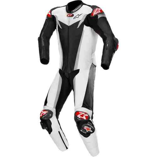 ALPINESTARS GP TECH V3 TECH AIR SUIT BLACK WHITE SILVER 52
