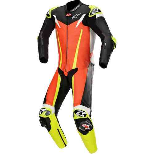 ALPINESTARS GP TECH V3 TECH AIR 1PCE SUIT FLURO RED BLACK