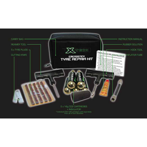 X TECH EMERGENCY TYRE REPAIR KIT
